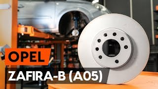 Watch the video guide on OPEL ZAFIRA B (A05) Brake pad set replacement
