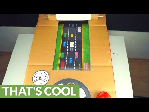 How to make racing arcade game out of cardboard |