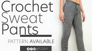 Crochet Sweat Pants   Pattern & Tutorial DIY