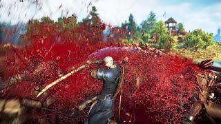 THE WITCHER 3 - Geralt vs 500 Witch Hunters (Console commands experiment) [4K]