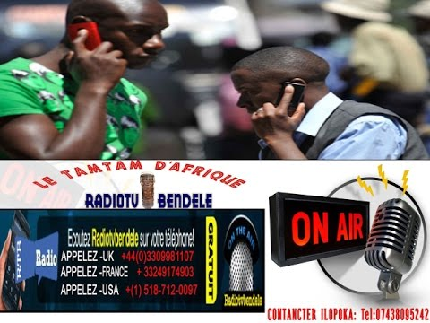 POUR ECOUTE RADIO TV BENDELE SUR VOTRE TELEPHONE APPELEZ UK 00443309981107 APPELEZ USA 0015187120097