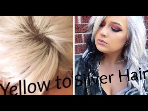 How to get Silver Hair | Yellow to Silver/ platinum
