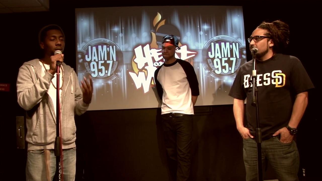 San Diego Hip Hop Freestyle Artists J Myles, Ric Scales  on Heat of The Week JAM'N 957