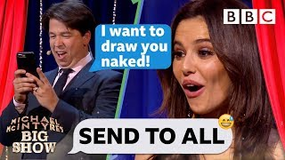 Cheryl SHOCKED by replies to Michael McIntyre's VERY forward text! - Send To All