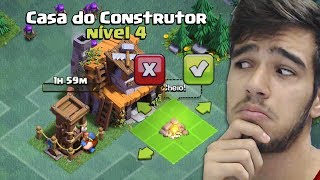 CHEGUEI NA CASA DO CONSTRUTOR 4, O QUE FAZER? - Clash of Clans