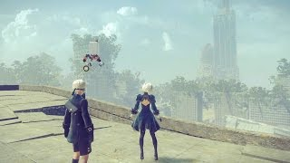 NieR: Automata Game Review (PS4, PC, Steam) (2017) (HD Gameplay)