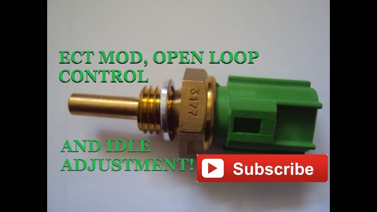 ect electronic coolant temp sensor mod how to video  [ 1280 x 720 Pixel ]