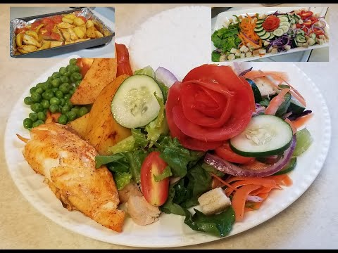 Vegetable Salad - Best Dressing Recipe- With Fish, Potato And Rice Side Dish-Ethiopian Food