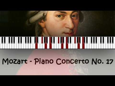 Piano Concerto No. 17 - Mozart   Full Length 29 Minutes in Full HD