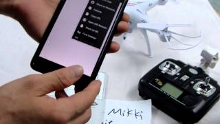 03.Syma X5SW wifi connecting method instruction tutorial