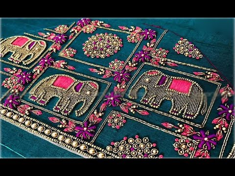 Top 10 Embroidery Work Blouse Sleeve Designs For Pattu Saree |Blouse Designs For Pattu Sarees Images