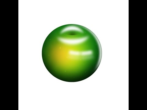 Photoshop CS6 Tutorial : How to Create Drawing 3D Green Apple Illustration Part 1