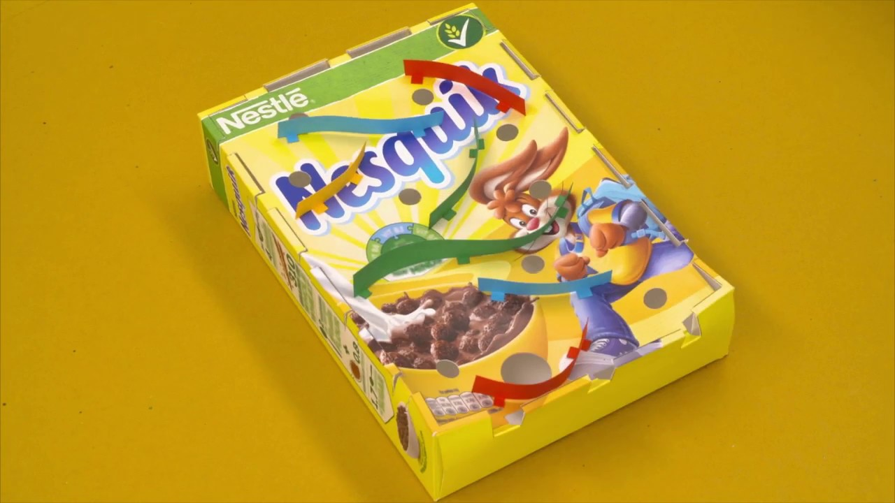How to make a maze game out of a cereal box nesquik for What to make out of cereal boxes