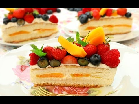 How To Make Birthday Cake With Cream And Fresh Fruit