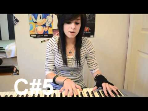 Christina Grimmie Vocal Range (youtube videos): Eb3- C#6