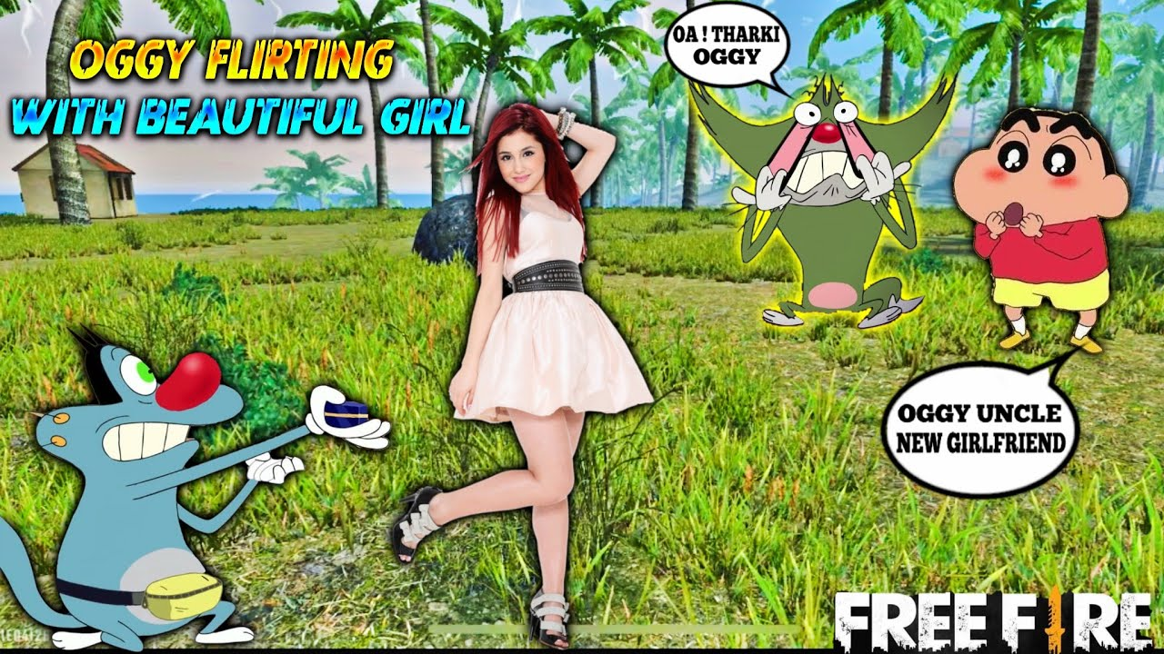 Oggy Flirting With Beautiful Girl || Sinchan And Jack Prank With Oggy (Prank Gone Wrong) || FreeFire
