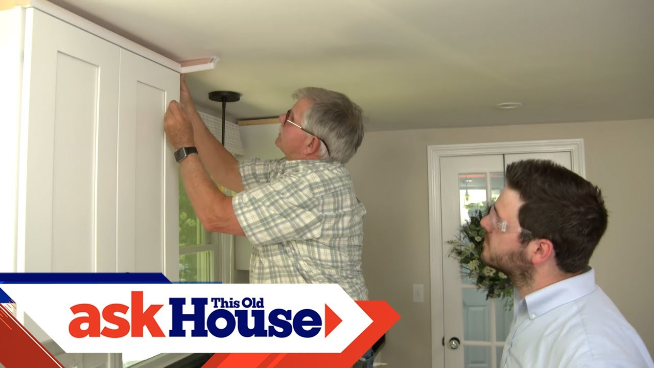 How To Hang Crown Molding On Kitchen Cabinets Ask This Old House Youtube