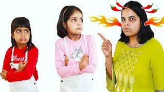 Ashu and Katy Cutie Mess Up Playhouse Pretend Play Funny Kids Story