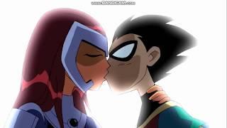 Teen Titans - Il bacio tra Robin e Stella (ita)