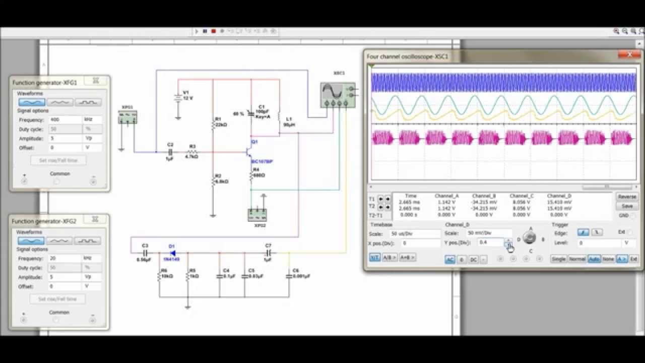Multisim Software Fm Simulation Youtube Spice Projects Signal Generation Circuits Ne555 Timer