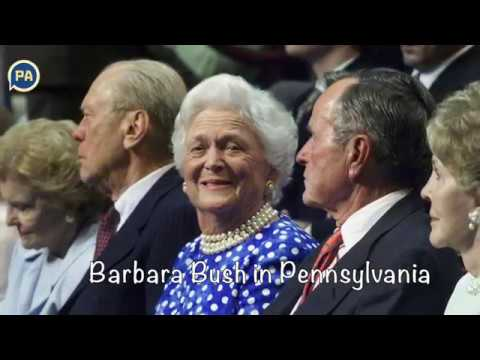 Barbara Bush in Pennsylvania