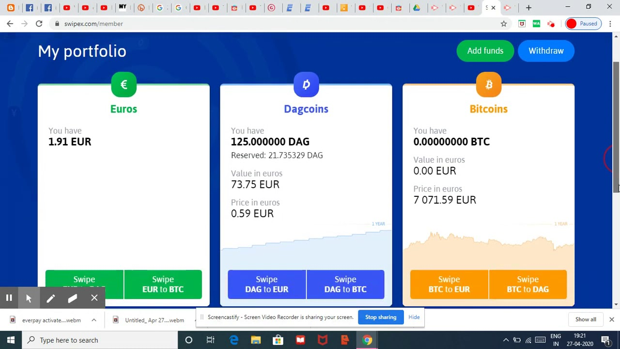 #Dagcoin Sell on Swipex Exchange - How to sell #Dagcoin latest updates