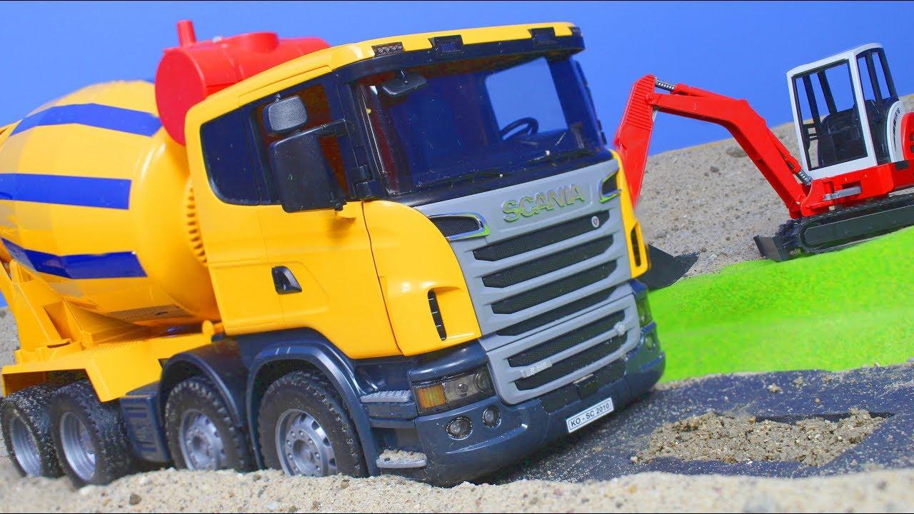 bagger lastwagen kran spielzeugautos baustelle. Black Bedroom Furniture Sets. Home Design Ideas