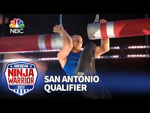 Brent Steffensen at the San Antonio Qualifiers - American Ninja Warrior 2017