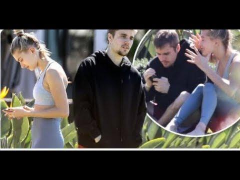 ¡En problemas! Justin Bieber y Hailey Baldwin fueron captados discutiendo en un parque - HOY