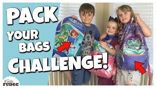 Kids Pack Their Own Bags || Fun Kids CHALLENGE!