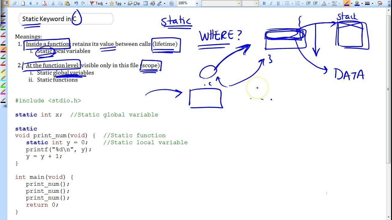 Static Keyword in C Part 1/2