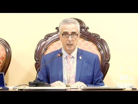 Intervención Juan Pérez, alcalde de Lucena, en el pleno de constitución de la nueva corporación