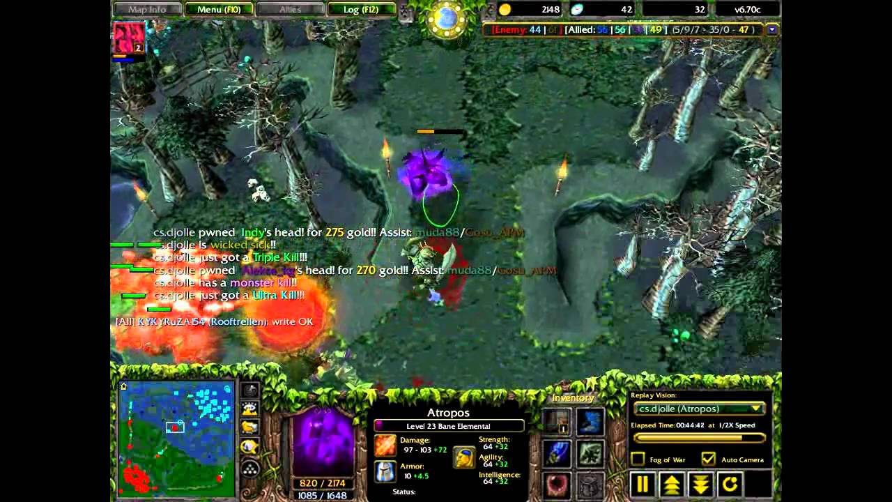 Dota Atropos Bane Elemental Best Rampage Ever YouTube