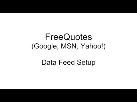 Google Free Quotes data feed setup in MultiCharts