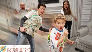 Run Pinata Run! Human Pinata Game  I That YouTub3 Family The Adventurers