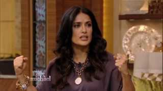 """Salma Hayek Pinault """"Picks Up"""" Michael Strahan on """"LIVE with Kelly and Michael"""""""