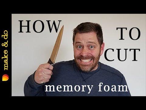 How to cut memory foam