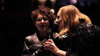 Adele invites impressive young fan onstage to perform in Manchester