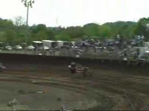 4x Dylan Burge flips at Kokomo Speedway 2008