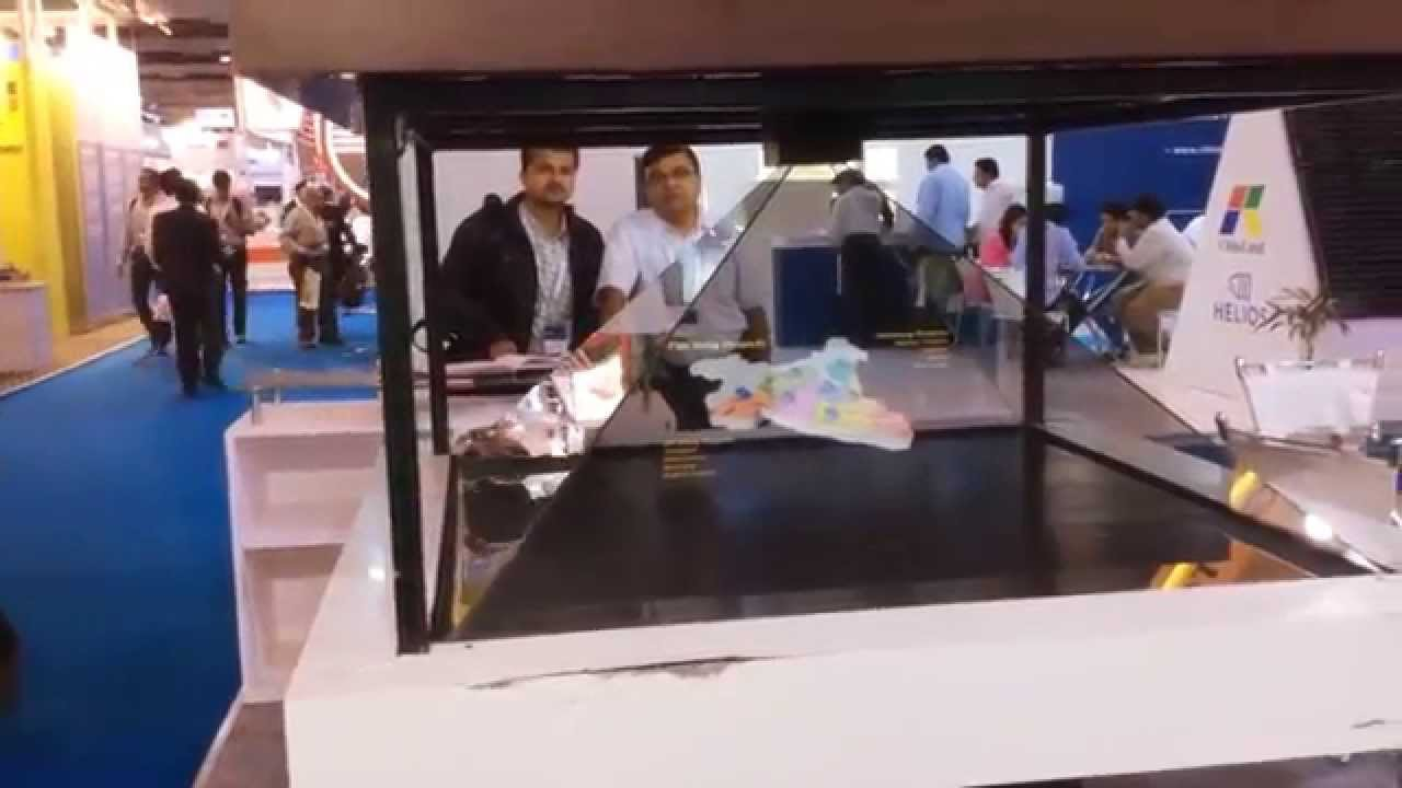 D Hologram Exhibition : D hologram display of solar exhibition youtube
