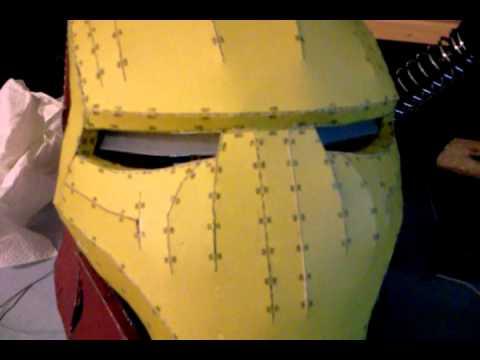 PEPAKURA IRON MAN HELMET EYES LIGHT UP - YouTube
