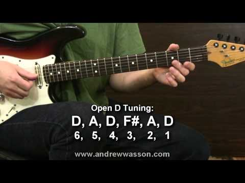 GUITAR VIDEO LESSON: Open D Tuning
