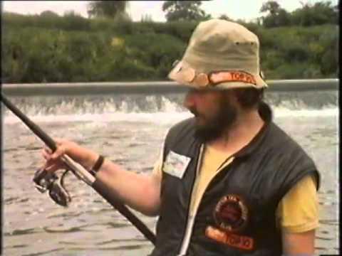 John Sidley with 20b Pike fishing Tewkesbury Weir, River Severn
