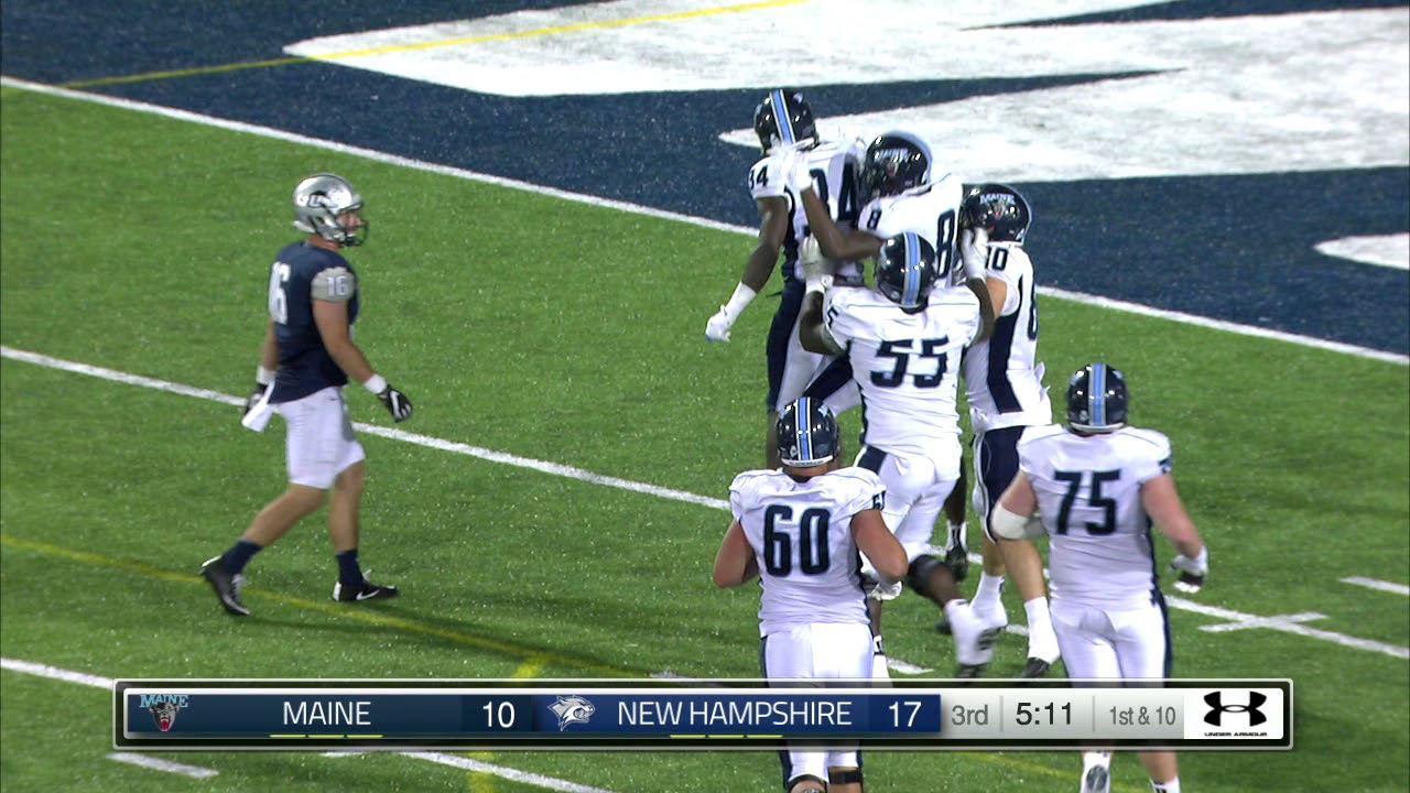 Unh Football Vs Maine Highlights 8 31 17 Youtube