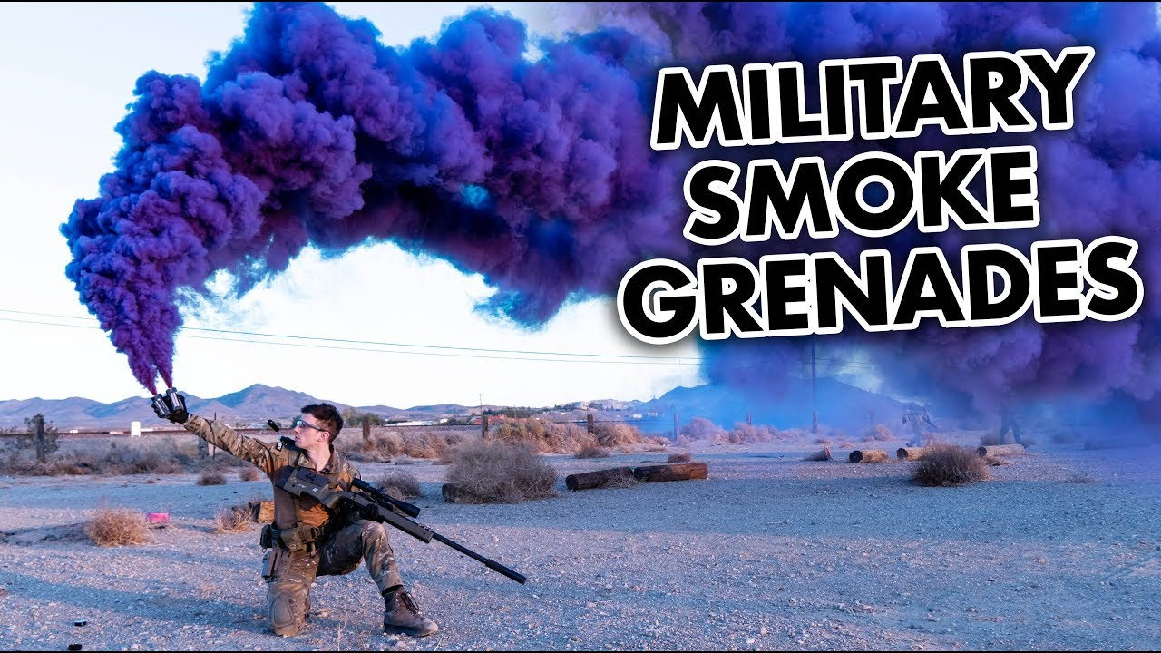 Testing Smokes Grenades and Airsoft Flashbangs
