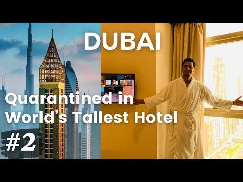Quarantined in World's Tallest Hotel   Gevora Hotel Dubai   Dubai Trip 2021   Pulak and Sangeeta