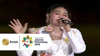 Download lagu Via Vallen - Meraih Bintang | Opening Ceremony Asian Games 2018