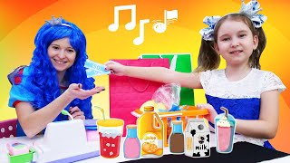 The Shopping song for kids! Let's go Shopping song for kids with Disney Princesses. Nursery rhymes.