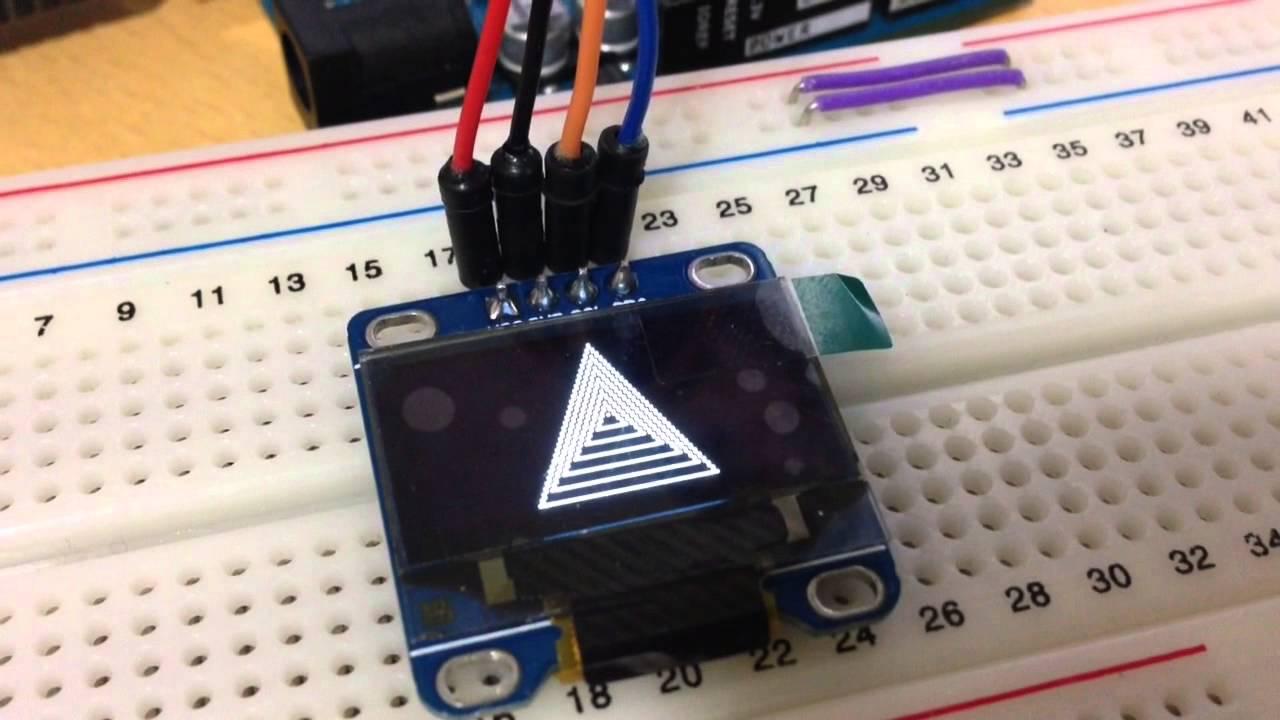 Arduino oled i c test youtube