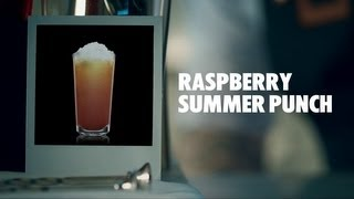 Raspberry Summer Punch Drink Recipe - How To Mix